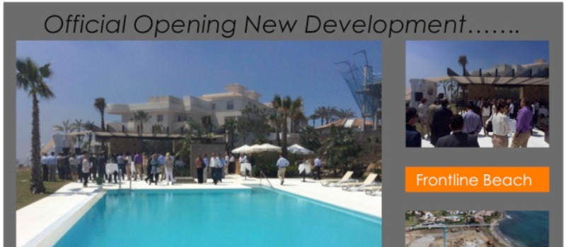Official opening of a new development in Estepona